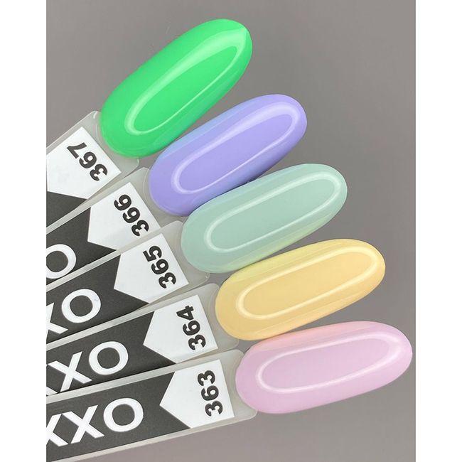 Гель-лак Oxxi №367 (лаймово-зеленый, эмаль) 10 мл