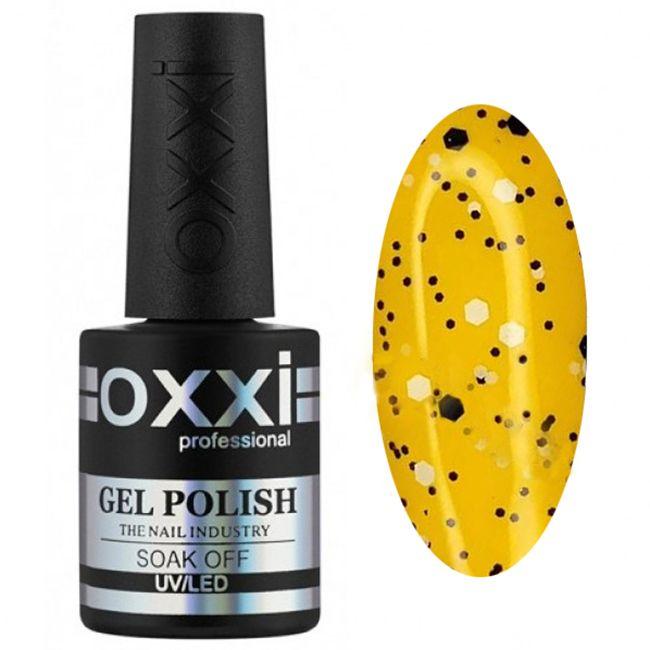 Топ для гель-лака Oxxi Twist Top №004 (с черными и белыми хлопьями) 10 мл