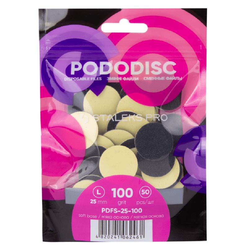 Сменные файлы для педикюрного диска Staleks Pro Pododisc L 100 грит (50 штук)