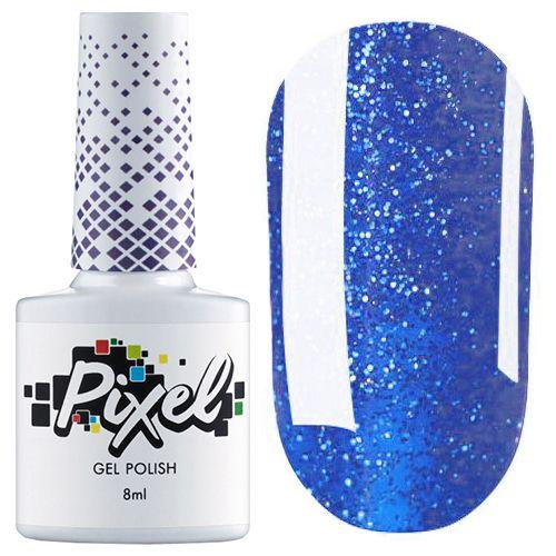 Гель-лак Pixel iFeel №06 (синий с блестками) 8 мл