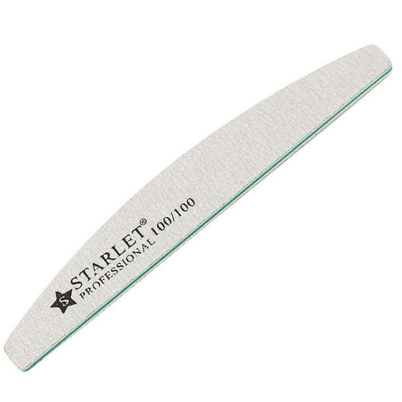 Пилка для ногтей Starlet (полукруг, 100/100 грит)