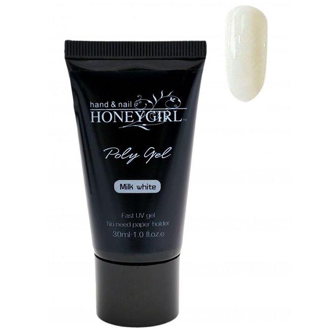 Моделирующий полигель Honey Girl Poly Gel Milk White №02 (молочный белый) 30 мл