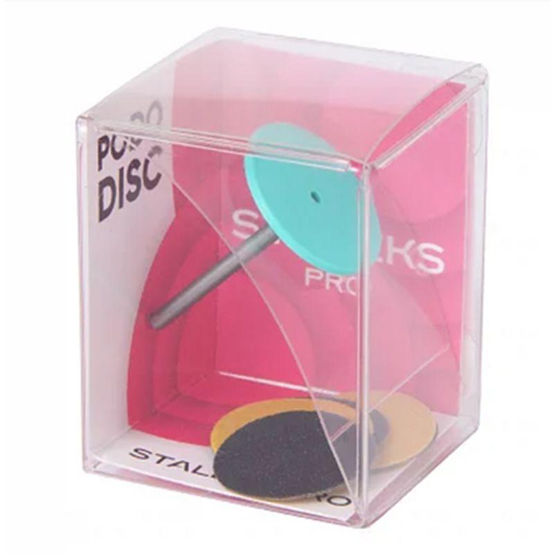 Диск педикюрный со сменным файлом Pododisk Staleks Pro S 15 мм (180 грит, пластиковый) 5 штук