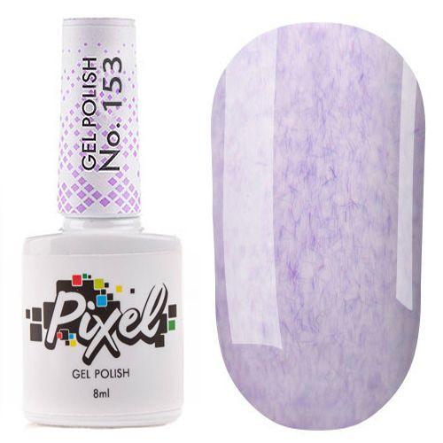 Гель-лак Pixel №153 (сиренево-фиолетовый с ворсинками plush effect, эмаль) 8 мл