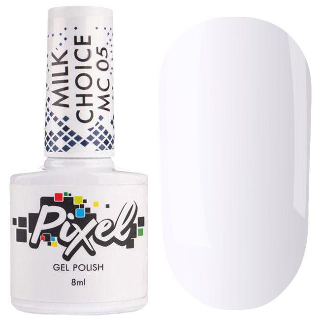 Гель-лак Pixel Milk Choice №005 (молочно сиренево-розовый, эмаль) 8 мл