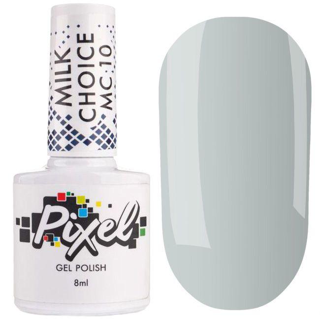 Гель-лак Pixel Milk Choice №010 (молочно нежно-мятный, эмаль) 8 мл