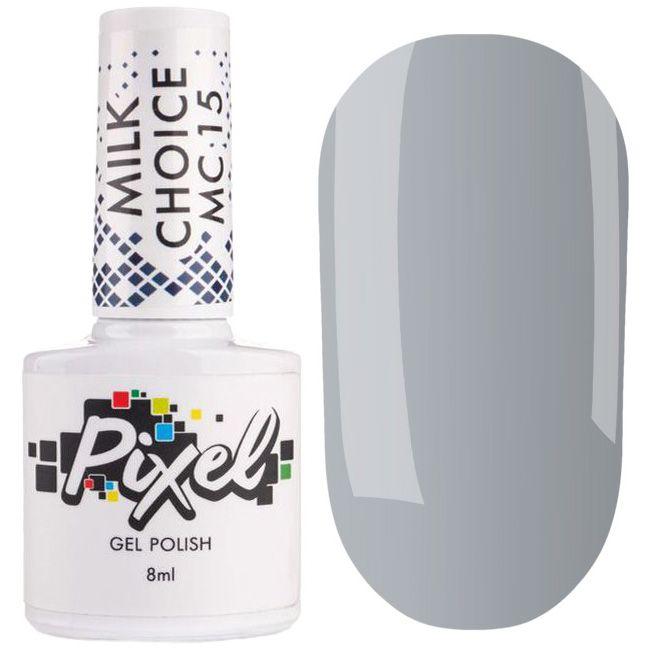 Гель-лак Pixel Milk Choice №015 (молочно-серый, эмаль) 8 мл