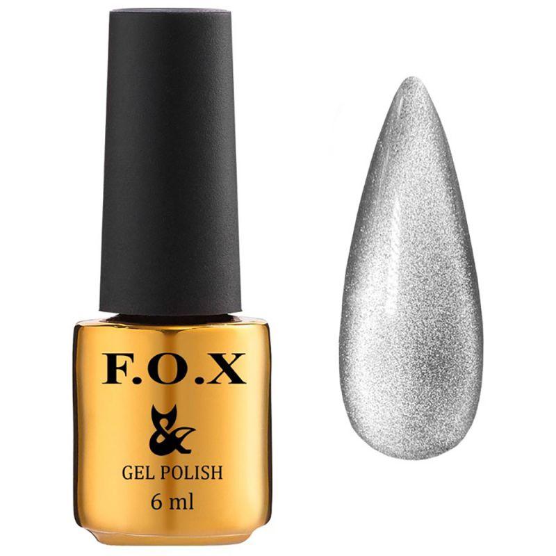 Гель-лак F.O.X Gel Polish Quartz Cat Eye №001 (серебристый, кошачий глаз) 6 мл