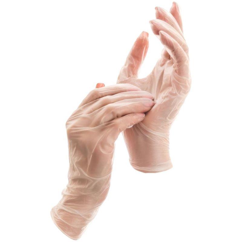 Перчатки виниловые без пудры Mercator Medical Simpli Vinil L (прозрачные) 100 штук