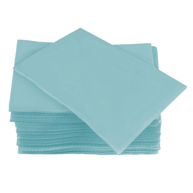 Салфетки одноразовые в упаковке Timpa 20х20 см (спанлейс, сетка, голубой) 100 штук