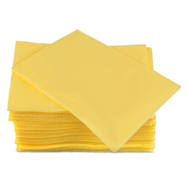 Салфетки одноразовые в упаковке Timpa 20х20 см (спанлейс, сетка, желтый) 100 штук