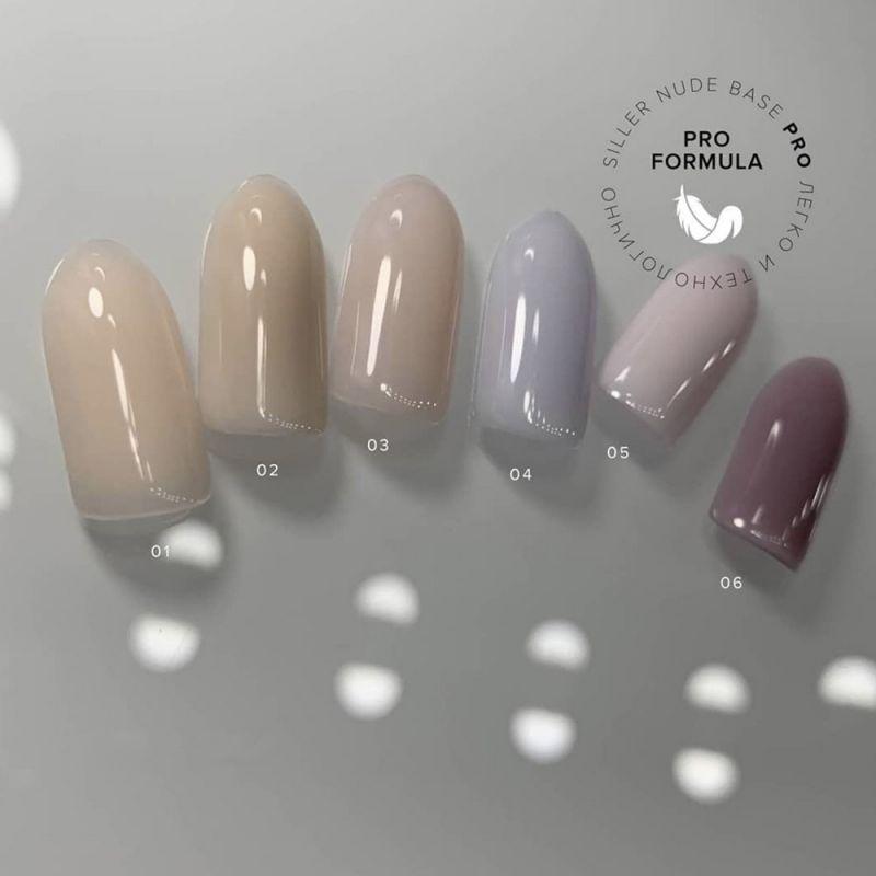 База для гель-лака Siller Cover Base Nude Pro №003 (молочно-розовый) 15 мл