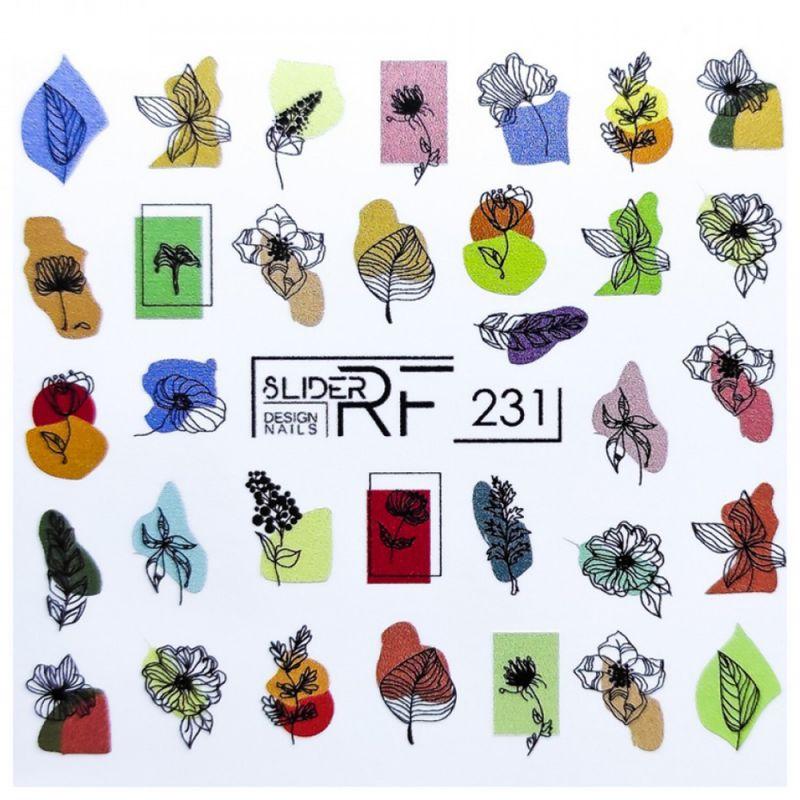 Слайдер-дизайн Slider RF 231 Абстрактные цветы