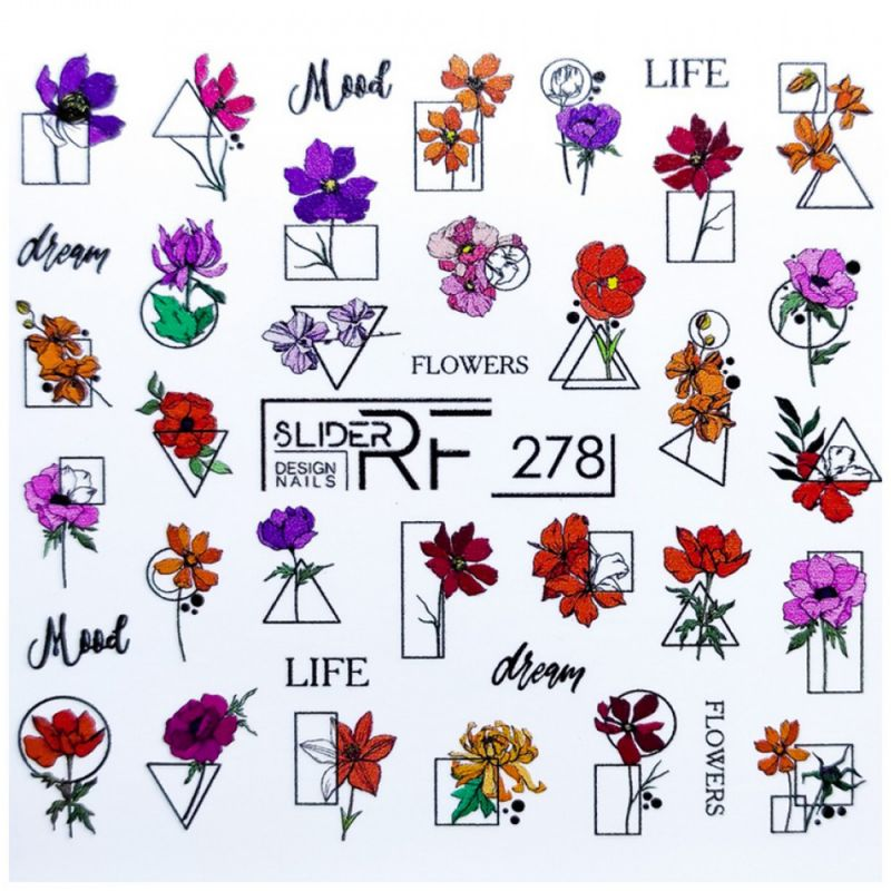 Слайдер-дизайн Slider RF 278 Цветочное настроение