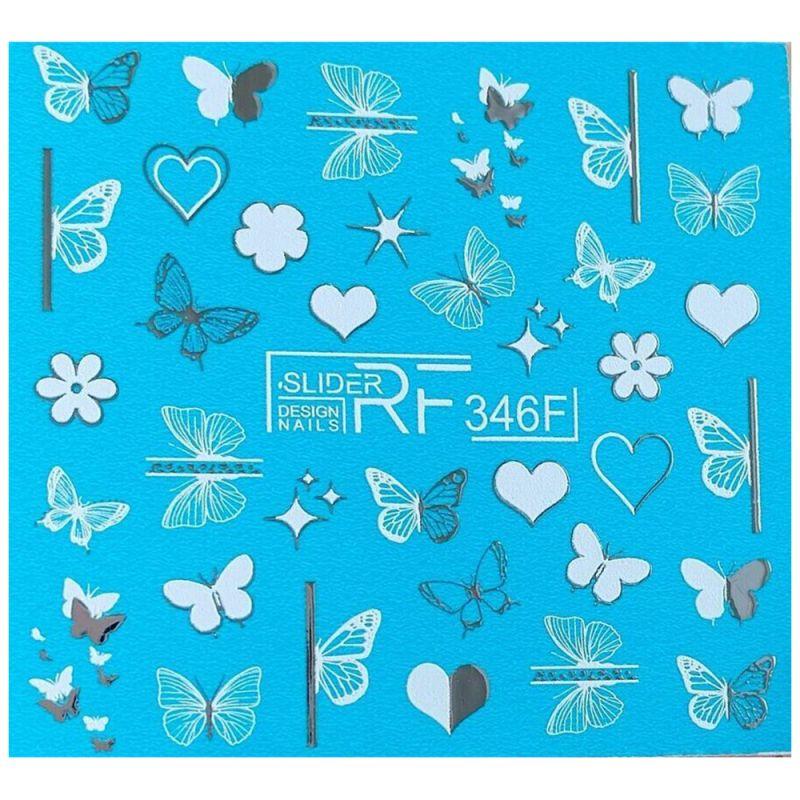 Слайдер-дизайн Slider RF 346F Бабочки и сердца (фольгированный)