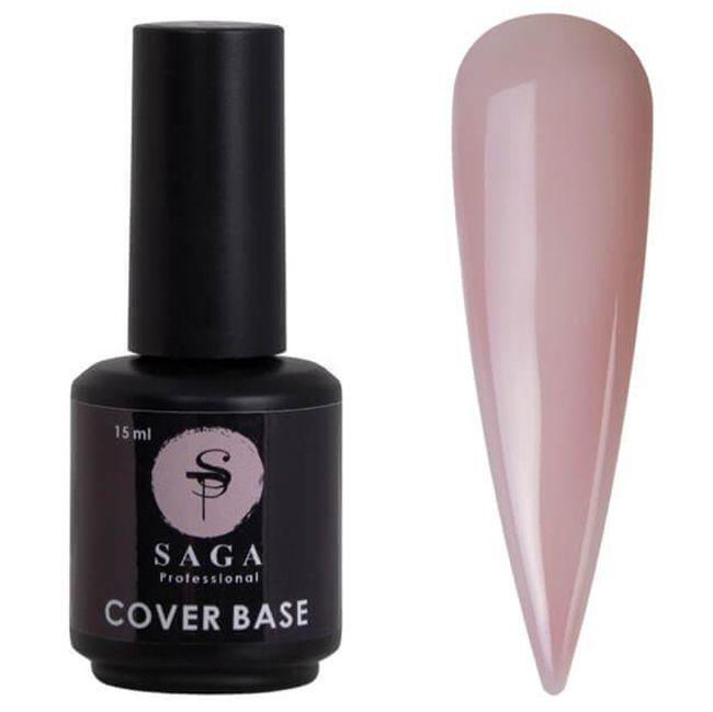 База для гель-лака Saga Cover Base Elastic №5 (розовый френч) 15 мл