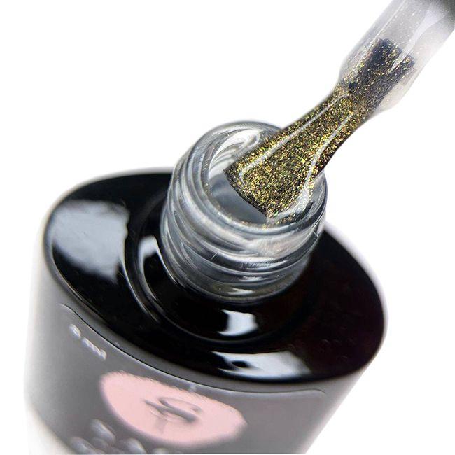 Топ для гель-лака Saga Glitter Top №6 (с золотым глиттером) 8 мл