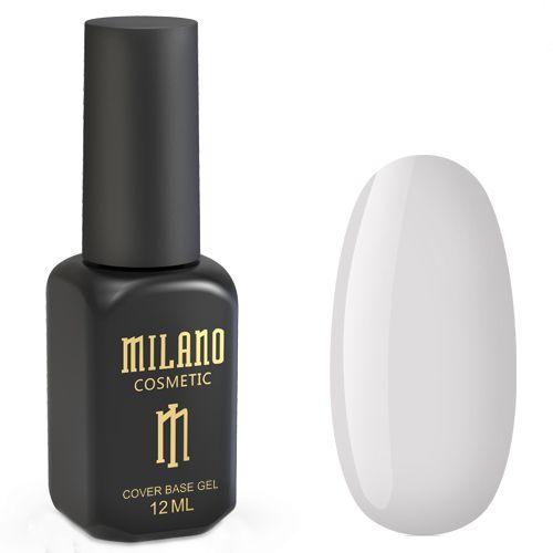База для гель-лака Milano Cover Rubber Base Gel №24 (кремово-молочный) 12 мл