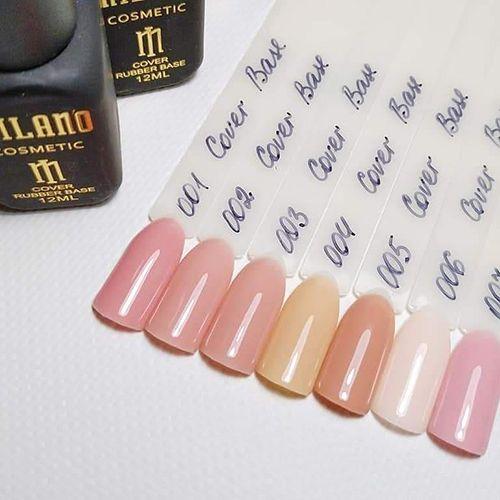 База для гель-лака Milano Cover Rubber Base Gel №01 (сиренево-розовый) 8 мл