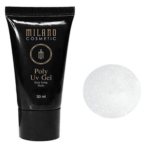 Акрил-гель Milano Poly Gel №009 (молочный с шиммером) 30 мл