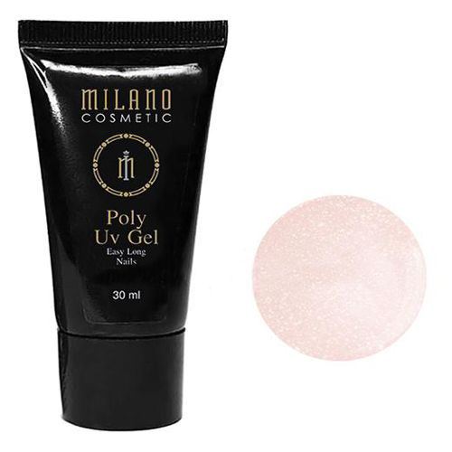 Акрил-гель Milano Poly Gel №010 (жемчужно-розовый с шиммером) 30 мл