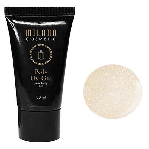 Акрил-гель Milano Poly Gel №012 (молочно-бежевый с шиммером) 30 мл