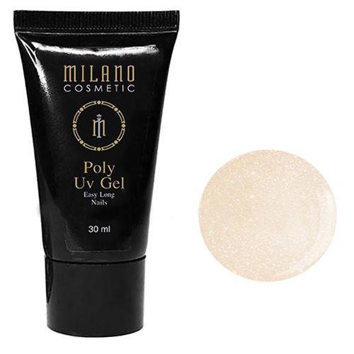 Акрил-гель Milano Poly Gel №013 (молочно-персиковый с шиммером) 30 мл