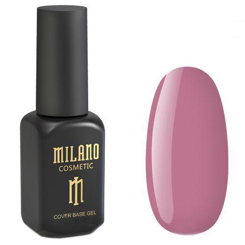 База для гель-лака Milano Cover Rubber Base Gel №08 (сливово-розовый) 8 мл