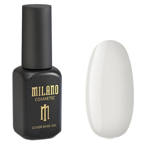 База для гель-лака Milano Cover Rubber Base Gel №12 (белый) 8 мл