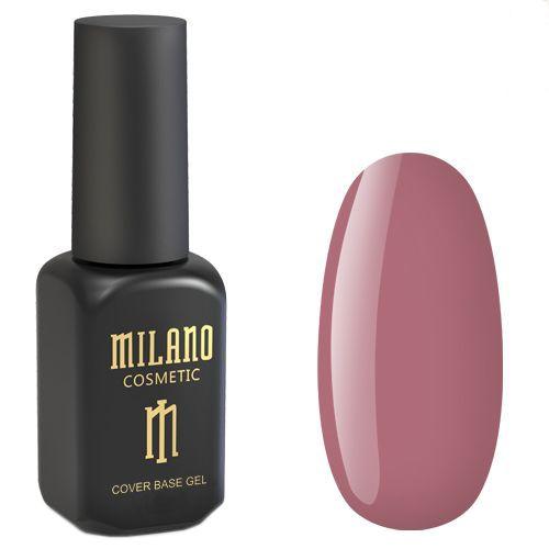 База для гель-лака Milano Cover Rubber Base Gel №13 (приглушенно-коричнево-розовый) 8 мл