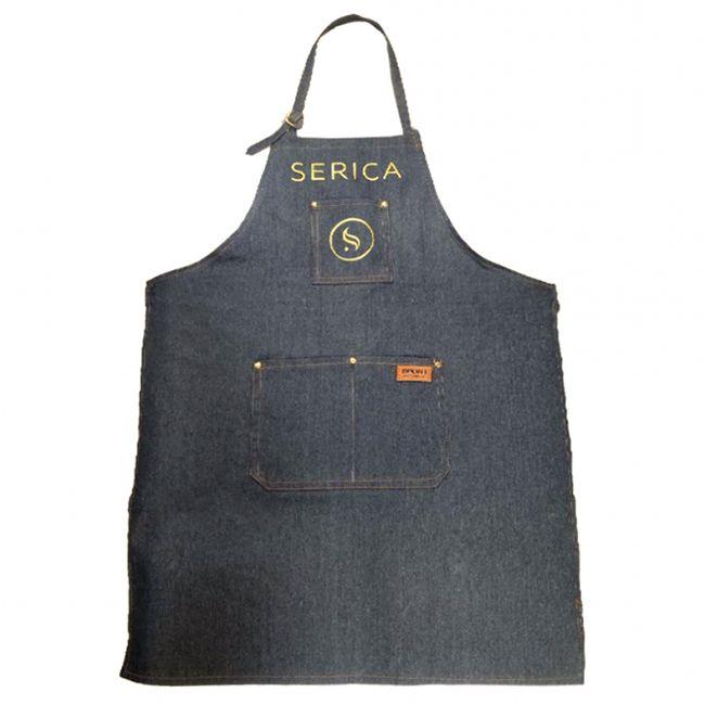 Фартук джинсовый Serica (с карманом и логотипом)