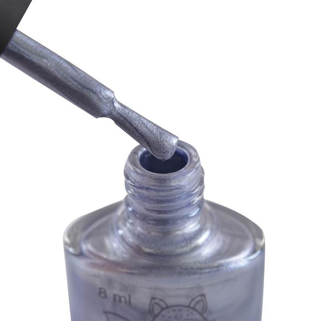 Лак-краска для стемпинга Saga Stemping Shine №2 (фиолетовое серебро) 8 мл