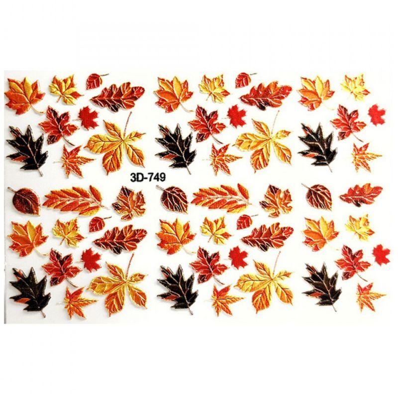 Слайдер-дизайн объемный 3D749 Осенние листья