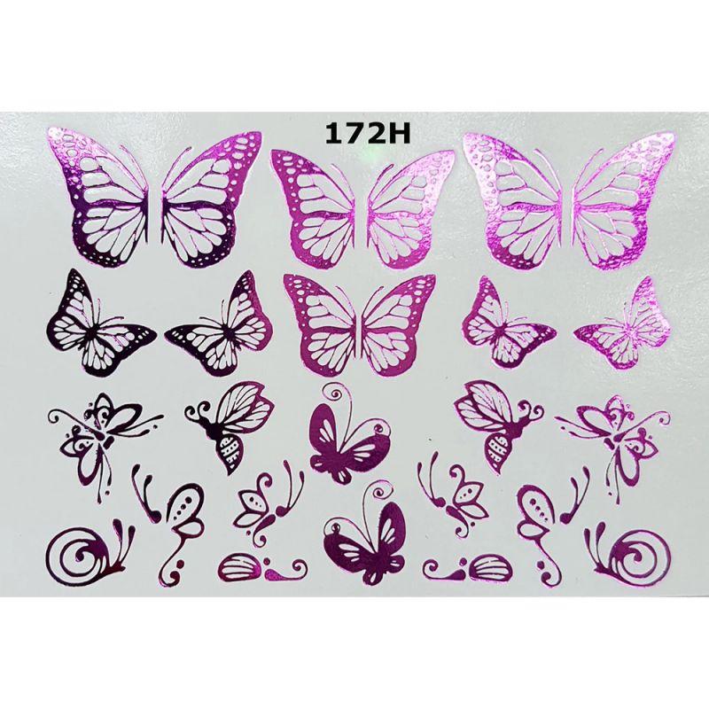 Слайдер-дизайн New Max 172H Ажурные бабочки (фольгированный)