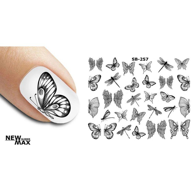 Слайдер-дизайн New Max SB-257 Бабочки черно-белые