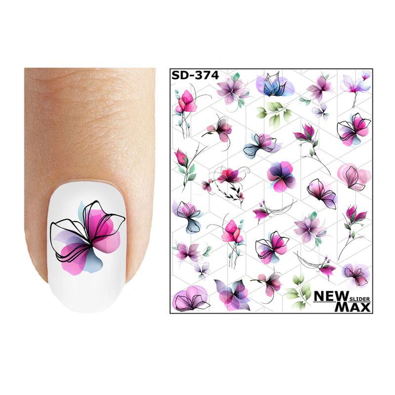 Слайдер-дизайн New Max Цветы фиолетовые SD-374
