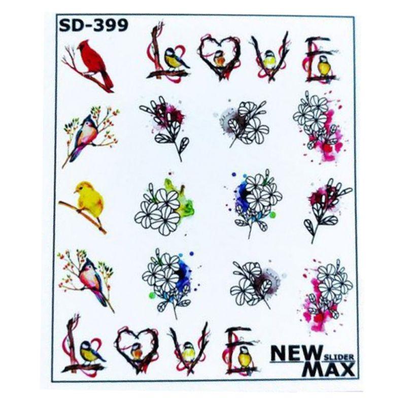 Слайдер-дизайн New Max SD-399 Цветы, птички