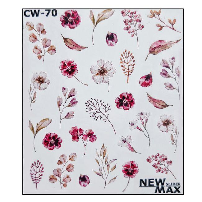 Слайдер-дизайн New Max Цветы розовые СW-70