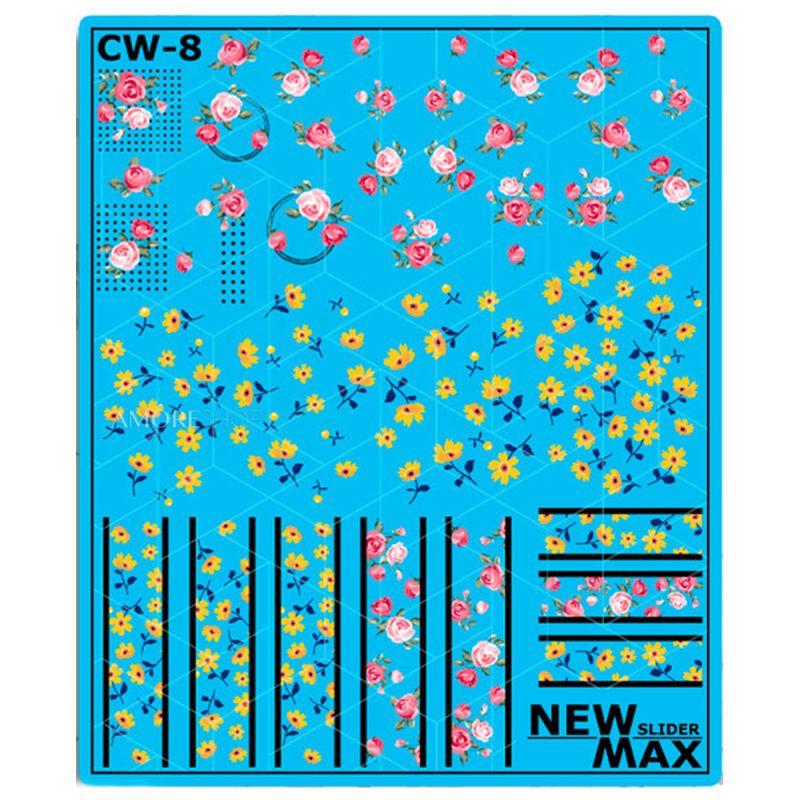 Слайдер-дизайн New Max СW-8 Цветочки