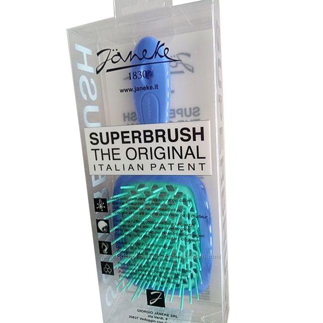 Расческа для волос Janeke 1830 Superbrush The Original Italian Blue Turquoise