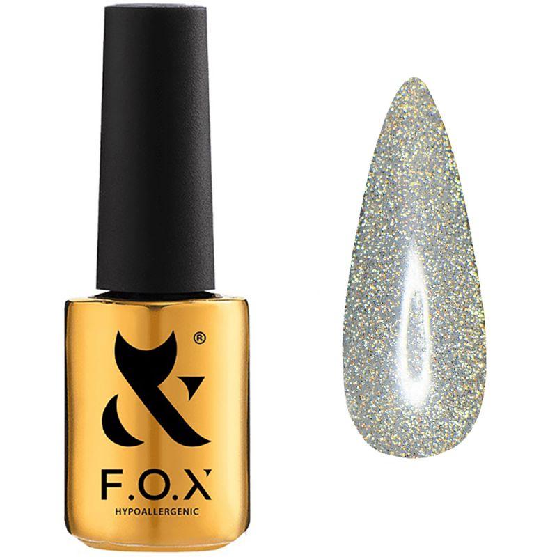Топ для гель-лака без липкого слоя F.O.X Top Flash Opal (с золотистым микроблеском, светоотражающий) 6 мл