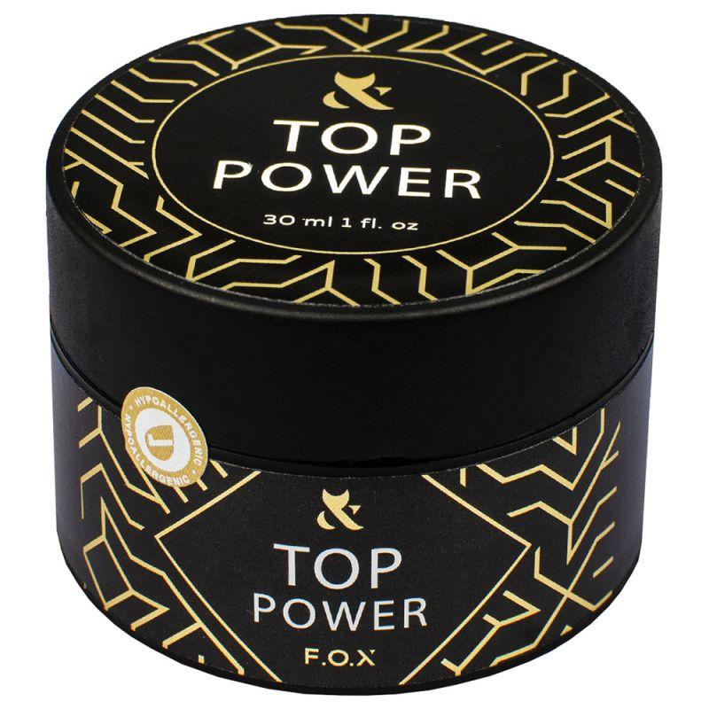 Топ для гель-лака без липкого слоя F.O.X Top Power 30 мл