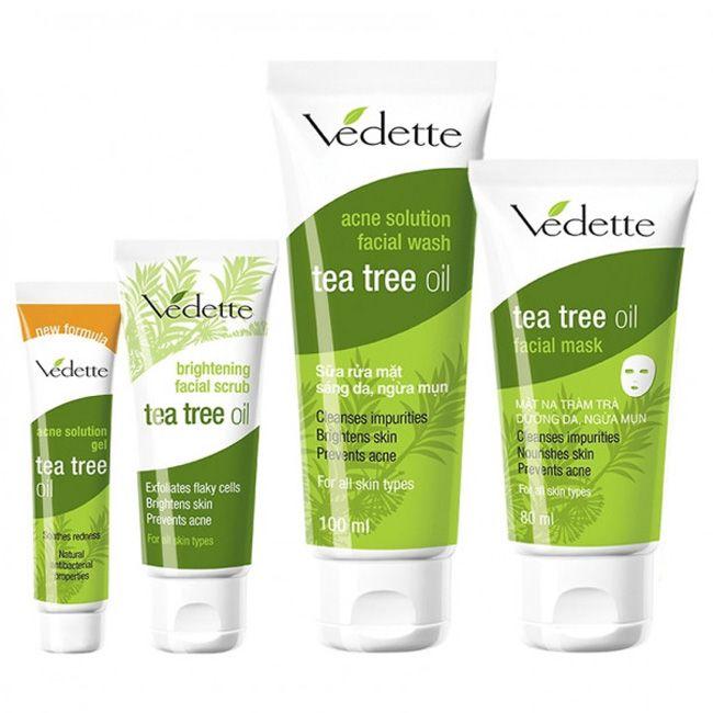 Набор по уходу за лицом Vedette Tea Tree Oil с маслом чайного дерева
