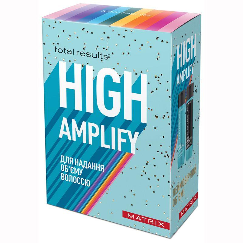 Набор для объема тонких волос Matrix Total Results High Amplify (шампунь и кондиционер с протеином) 2х300 мл